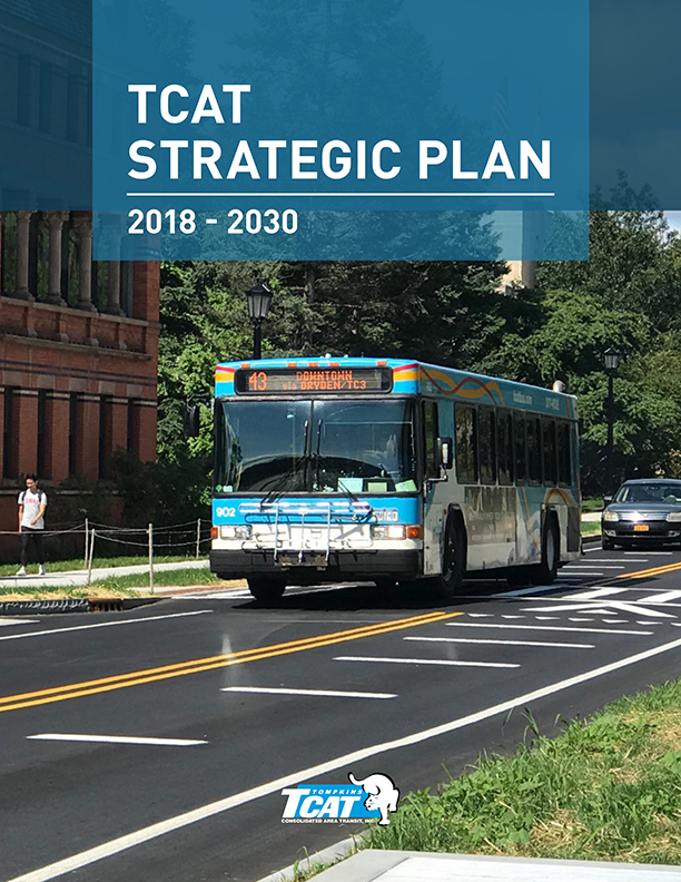 Report cover for TCAT Strategic Plan: 2018 to 2030