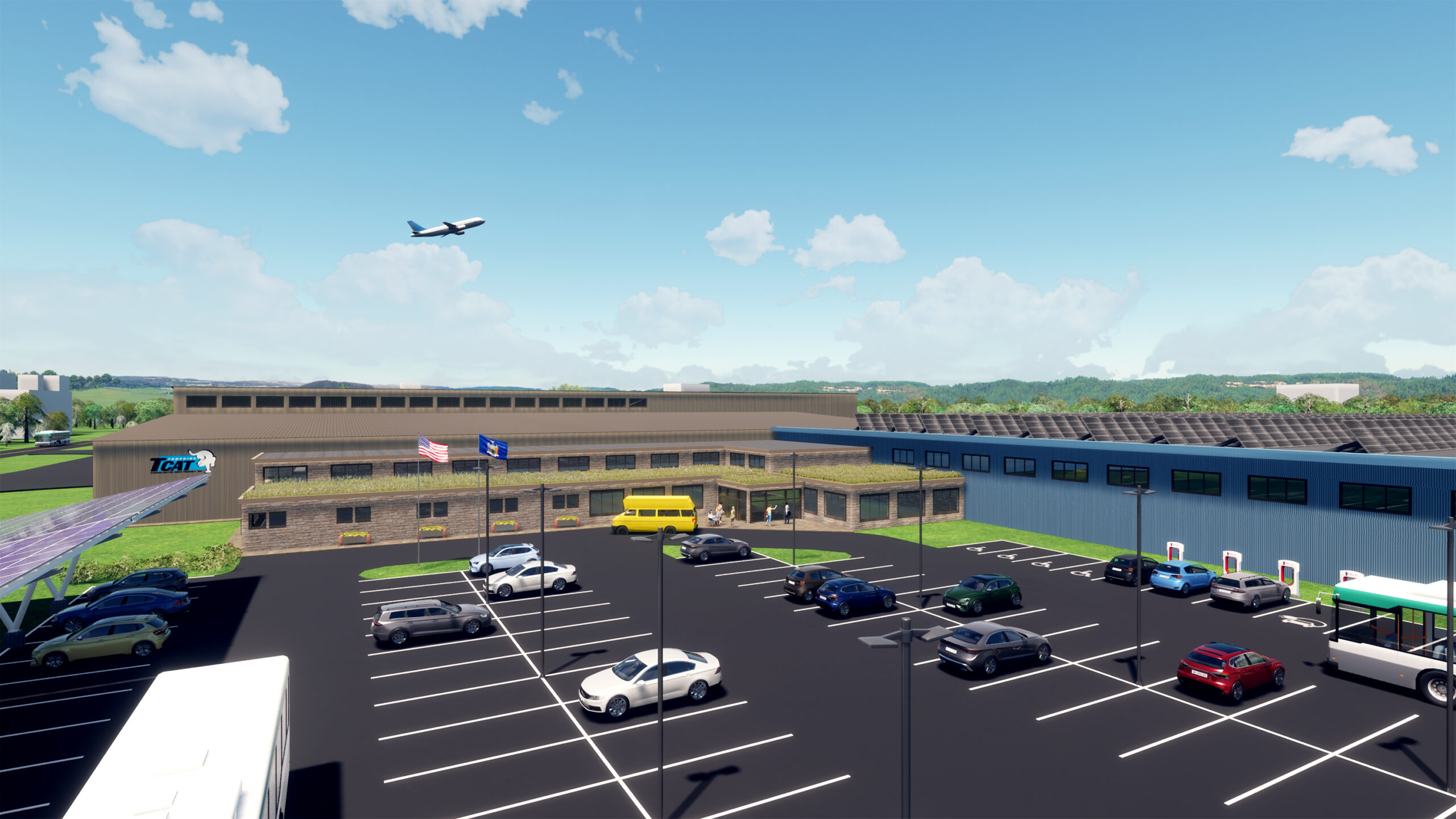 Rendering of new TCAT facility